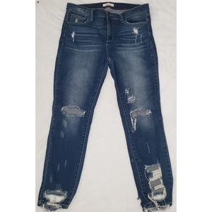 Cello Distressed Stretch Skinny Jeans Junior's 15